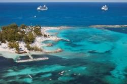 Plaża na Coco Cay na Karaibach